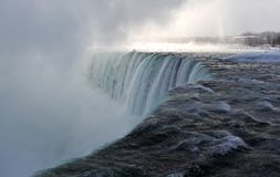 Frozen Niagara Falls in winter season Royalty Free Stock Images