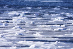 Frozen ocean background. With a blue hue Royalty Free Stock Photo