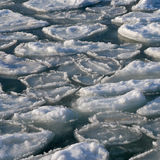 Frozen  ocean - broken piece of  ice in sea water Stock Photography