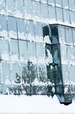 Frozen office windows Royalty Free Stock Photography