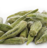 Frozen Okra Royalty Free Stock Photos