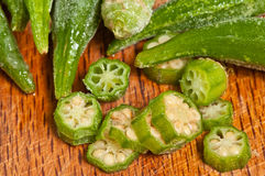 Frozen Okra Stock Photos