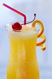 Frozen orange drink stock image