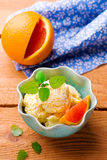 Frozen orange yogurt Royalty Free Stock Images