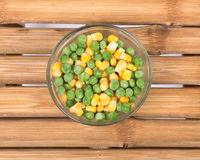 Free Frozen Organic Peas And Corn Royalty Free Stock Photography - 80310857