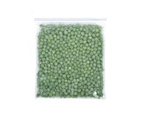 Frozen organic peas Royalty Free Stock Photography