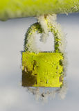 Frozen padlock Stock Photos