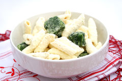 Frozen Pasta. Some frozen Pasta with spinach Stock Photography