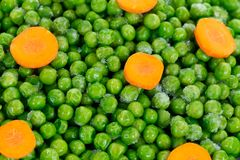 Frozen peas Stock Photography