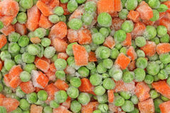 Frozen peas and carrots Royalty Free Stock Image