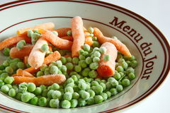 Frozen peas and carrots Royalty Free Stock Photos