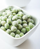 Frozen peas close up Stock Photography