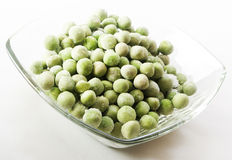Frozen peas close up Royalty Free Stock Images