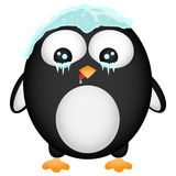 Frozen penguin. Illustration. Can be used for a logo or a children book Royalty Free Stock Photos