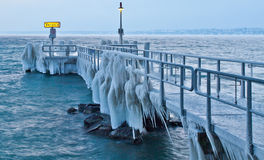 Frozen Pier III Stock Photo