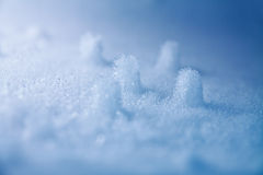 Frozen piles of snow and ice royalty free stock photo