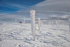 Frozen pillars in rows Stock Images