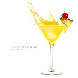 Frozen Pineapple Daiquiri. Cocktail Splashes stock images