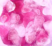Frozen pink and white ice heart merge Stock Photography