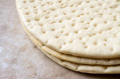 Frozen pizza dough Royalty Free Stock Image