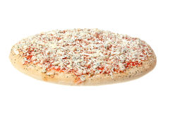 Frozen pizza. Frozen pizza on a white background Royalty Free Stock Images