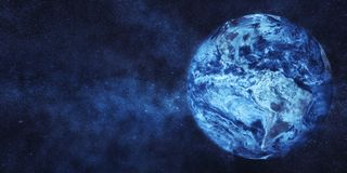 Frozen Planet Earth. Global cooling concept. Some elements of image furnished by NASA stock photo