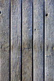 Frozen planks of old pier at winter morning Royalty Free Stock Photography