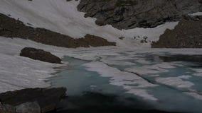 Frozen pond stock video