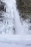 Frozen Pool at Horsetail Falls Oregon Stock Photography