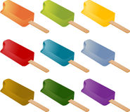 Frozen popsicle ice cream Stock Image