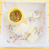 Frozen popsicles with sprinkles Stock Photography