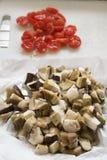 Frozen porcini mushrooms Royalty Free Stock Photography