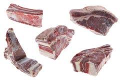 Frozen Pork On White Royalty Free Stock Photography