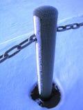 Frozen post. At Kemi, Lapland, Finland stock photos