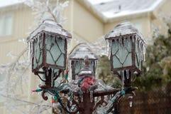 Frozen post lamp Royalty Free Stock Photos