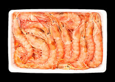 Frozen Prawns Stock Photo
