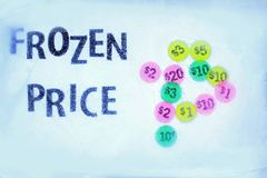 Frozen price in the ice Royalty Free Stock Image