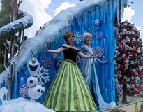 Disney World Orlando Florida Magic Kingdom Parade. Frozen princess during the parade at walt disney world orlando florida Royalty Free Stock Image