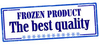 Frozen product the best quality. Rubber stamp with text frozen product the best quality inside,  illustration Stock Images