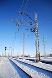 Frozen railway Stock Images