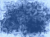 Frozen random numbers background or texture Royalty Free Stock Photos