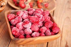 Frozen raspberries Stock Photography