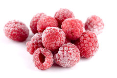 Frozen Raspberries Stock Image