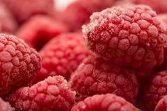 Frozen raspberries Stock Photo