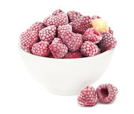 Frozen raspberries Royalty Free Stock Photography