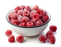 Frozen raspberries royalty free stock image