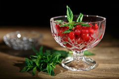 Frozen red currant berries Royalty Free Stock Photos