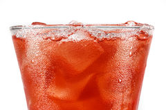 Frozen red fruit juice on white background Stock Image