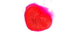 Frozen red heart melting. Isolated on white background Royalty Free Stock Image