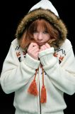 Frozen redheaded girl Stock Photography